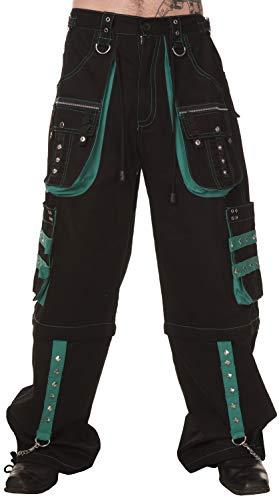 Dead Threads - Four Pockets Black and Green Men's Trouser 2XL / Green