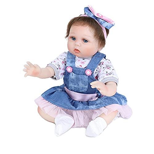 22pulgadas 55cm Reborn niñas Silicona Blanda Bebes Reales muñecas Toddler Nino Baby Dolls Girls