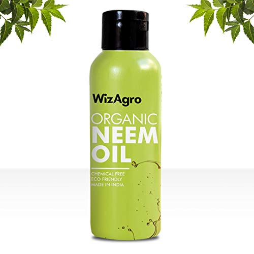 WizAgro Organic Neem Oil - Ayurvedic solution for Healthy Hair & Skin Care (200 ml)