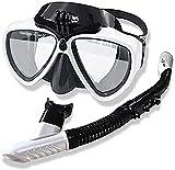 XUERUIGANG Conjunto de Snorkel para Adultos, máscara de Snorkel,...