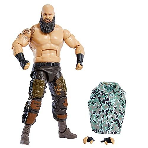 WWE Élite Figura de acción Braun Strowman, muñeca articulada de juguete con accesorios para niños +6 años (Mattel GVB70)