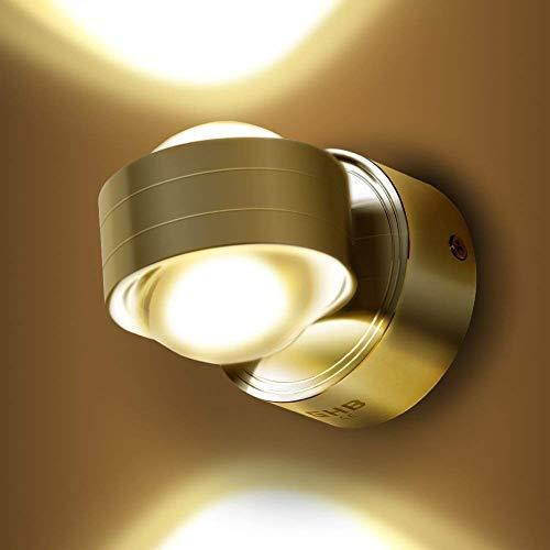 GHB 6W LED Wandleuchte Halb Globe Warmweß Wandlampe [Energieklasse A+]