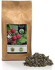 Frambozenbladthee, frambozenblad gesneden, zacht gedroogd, 100% puur en natuurlijk voor de bereiding van thee, kruidenthee, frambozenbladthee