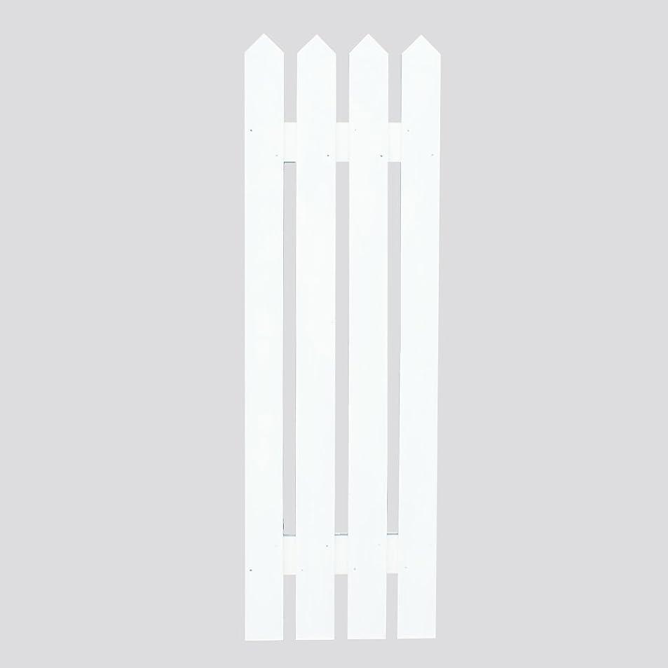 回路スリンク見つけたウォールフェンス ピケット(受注製作) (ホワイト(ペンキ塗装)1枚セット)