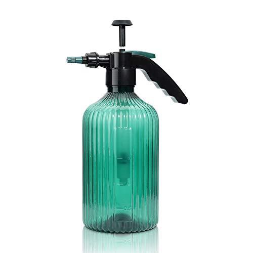 T4U - Bottiglia Spray a nebulizzazione fine, in plastica, con Pompa Superiore, 2 l, con ugello Regolabile, per Uso Interno ed Esterno, Giardinaggio o Pulizia della casa, Colore: Verde
