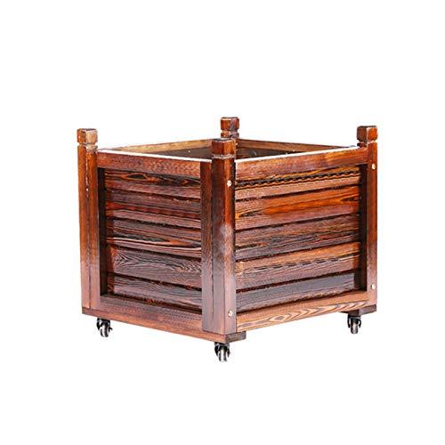 ANBOX Macetas, Estilo Rústico Jardín Madera Cajas De Jardineras Bonsai Grande Plantas Artificiales Vegetal Macetas (tamaño : 55×55×55cm)