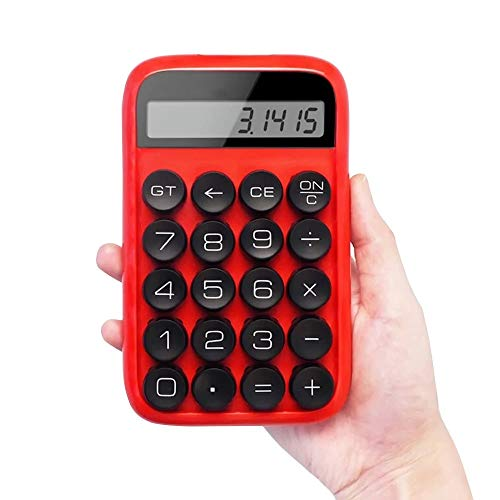VHGYU Taschenrechner Jelly Bean Mechanische Hand Rechner Multi-Funktions-Digital-LCD Scientific Calculator Multicolor Optional für Tages- und Standard-Office (Color : Red, Size : One Size)