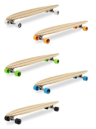 Two Bare Feet 'The Chuck' 44in Pintail Bamboo Series Premium Pro Longboard...