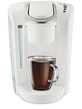 Keurig K-Select Coffee Maker Single Serve K-Cup Pod Coffee Brewer With Strength Control and Hot Water On Demand Matte White
