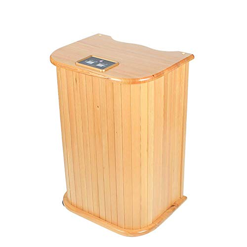 Equipo Caja de Vapor de Madera Baño de pies por Infrarrojos Barril Sauna de Vapor Portátil Una Persona en casa Tienda de campaña para Todo el Cuerpo Pérdida en el hogar Detox para Adelgazar
