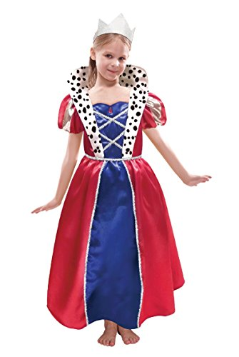 Christys Dress Up Queen jurk en foliekroon (3-5 jaar)