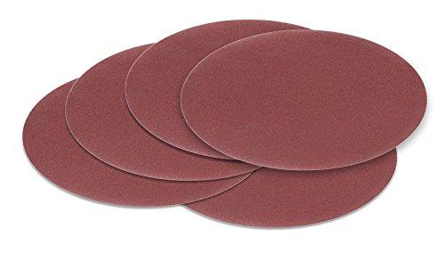 125 mm OHNE LOCH red Exzenter Schleifscheiben Sortiment SET 5 Scheiben P800 P600 P400 P320 P240 Klett Schleifpapier
