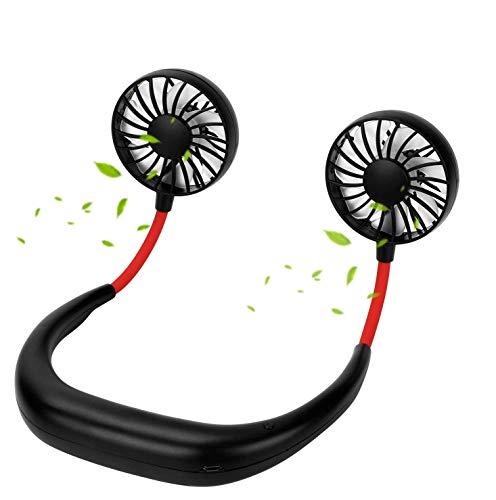 Modelo explosivo ventilador de cuello perezoso, tres generaciones de deportes portátiles USB mini luminoso pequeño ventilador, silencioso viento alto 2000 mAh en la batería