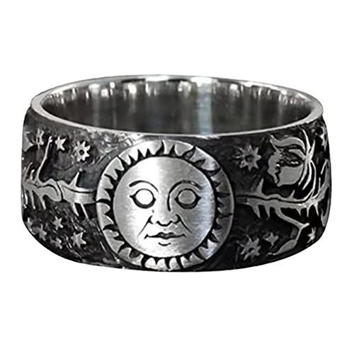 Gazaar Anillo antiguo del universo de dibujos animados anime anillo inspirador copo de nieve sol universo anillo regalo de cumpleaños, Plástico,