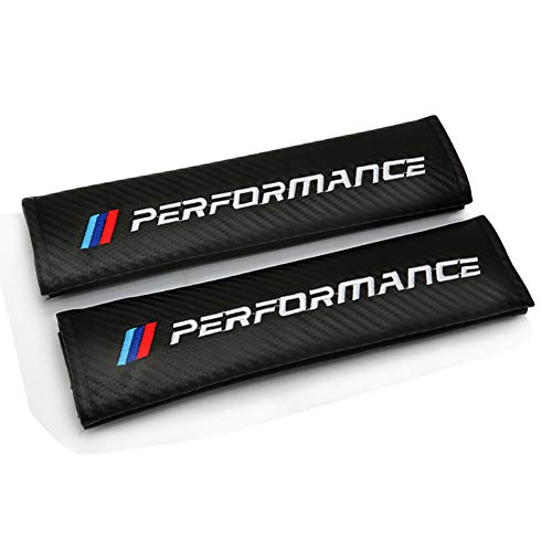LSYBB Enchufe del cojín de la Cubierta del cinturón de Seguridad de Fibra de Carbono del Coche para BMW M E90 E91 E92 E93 M3 E60 E61 F10 F07 M5 E63 E64 m4 m5 m6 m7 x4 x5 x1 e30 e39 e46