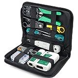 Tester Comprobador De Redes | Maletín Profesional Completo De Reparaciones Eléctricas Con Estuche | Kit 10 en 1 Cable LAN Network Tools Kit