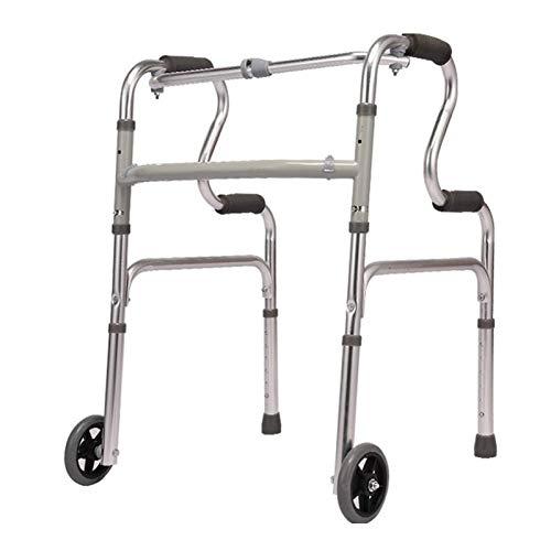 Rollator con 2 Ruedas Ayuda para Caminar Andador Caminador, Andador para Ancianos y Minusválidos, Aluminio, Ligero, Plegable,B