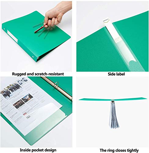 """3 Ring Binder 1 Inch, HYUNLAI 3 Ring Binder, 1 Inch Binder Holds 8.5""""11"""" Paper, Round Ring Binder Suitable for School, Home and Office(6Pack) Photo #4"""