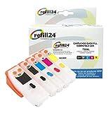 T33 Cartuchos Recargables Compatible para - T3331 + T3342-3344 / T3351 + T3361-3364 / T33XL, T3337, T3357 Auto-reseteables Color y Negro