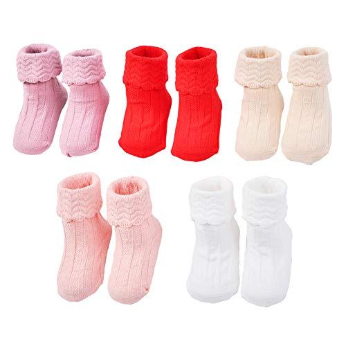BLBGDD Non-Slip Baby Socks Cotton Toddler Socks Grips Baby Girls Boys 5 Pack Skid Ankle Socks Infant Kids 0-24 Month………