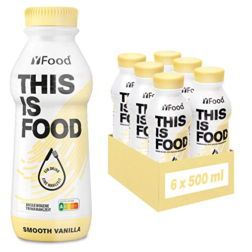 YFood Astronautennahrung Vanille | Laktose- und glutenfreier Nahrungsersatz | 34g Protein, 26 Vitamine und Mineralstoffe | 25% des Kalorienbedarfs | Trinkmahlzeit, 6 x 500 ml (1 kcal/ml)