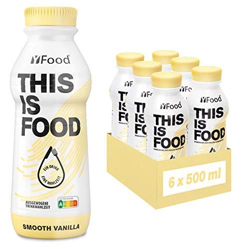 YFood Astronautennahrung Vanille   Laktose- und glutenfreier Nahrungsersatz   34g Protein, 26 Vitamine und Mineralstoffe   25% des Kalorienbedarfs   Trinkmahlzeit, 6 x 500 ml (1 kcal/ml)