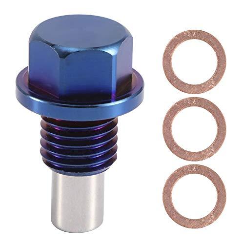 Ölablassschraube - Magnetische Ölwannenwanne aus Aluminiumlegierung Rücklaufablassschraube Anschlussadapter(M12*1.5)