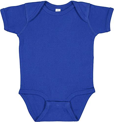 RABBIT SKINS, Baby Soft Short-Sleeve Bodysuit, Royal, 12 Months