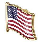 1pc American Flag Badge Badge en Métal Pin Broche USA États-Unis des...