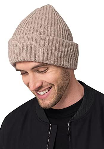 Style & Republic Gorro para hombre de 90 % lana y 10 % cachemira. Gorro elegante de fina lana de...