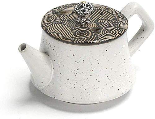 Yruog Tetera Tetera de cerámica Teteras Tetera de cerámica Tetera pequeña de mano de estilo japonés Horno pequeño Cambio de olla individual Cerámica Kungfu retro