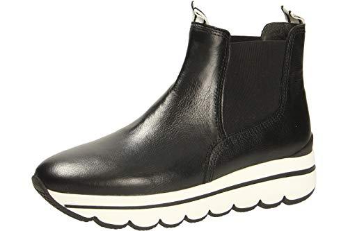 Gabor 33.702 27 Damen sportiver Chelsea Boots aus Glattleder mit Wechselfußbett, Groesse 41, schwarz
