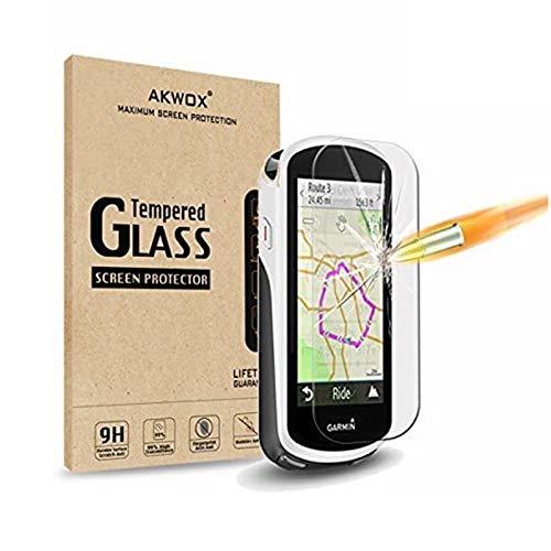 [4 Unidades] Protector de Pantalla para Garmin Edge 1030 AKWOX [9H Dureza] Cristal Vidrio Templado para Garmin Edge 1030 Cristal Templado
