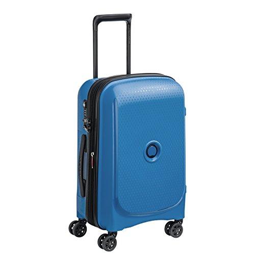 DELSEY Paris Belmont Plus Equipaje de Mano, 55 cm, 40 Liters, Azul (Bleu Cyan)