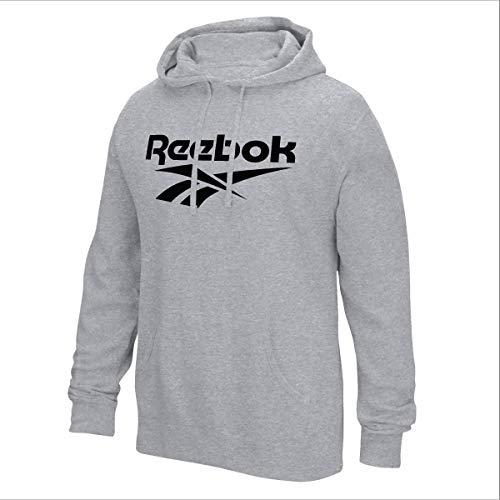 Reebok - Felpa con Cappuccio in Pile da Uomo, Uomo, Felpa, CMH86, Grigio, S