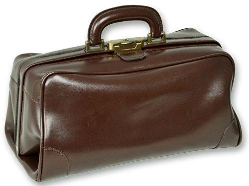 Gima - Borsa da Medico, Doctor Bag, Modello Florida, in Pelle, Colore Marrone