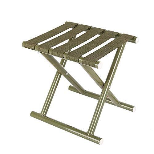 ch-AIR Tabouret De Camping Tabourets De Camping Portables Légers Chaise Pliante Pêche Tabourets De Barbecue sur La Plage (Color : Silver White)