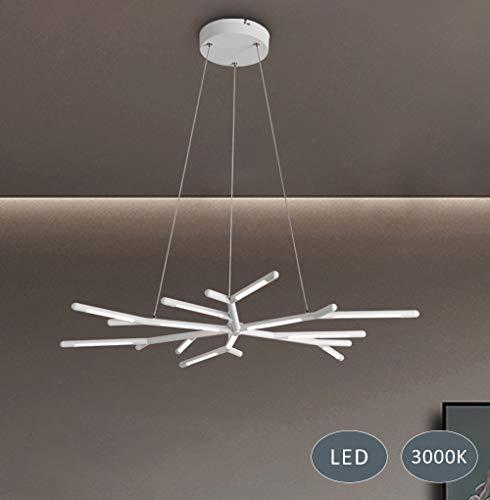 LED-Pendelleuchte Moderne Geweihleuchte Modernes Aluminium-Silikon-Licht Aluminium-Silikon-Material für Wohnzimmer Kinderzimmer Arbeitszimmer 35W 2450 Lumen 3000K Warmweiß Klasse A++ Energieeffizienz