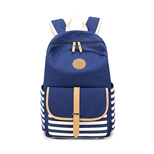 Umily Mochilas Escolares Mujer Backpack Mochila Escolar Lona Grande Unisexo Bolsa Casual Juvenil Chica-Azul Tipo A