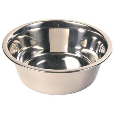 takestop® Ciotola 28 CM Contenitore MANGIATOIA per Cani Cane Gatto Animali Domestici in Alluminio Cibo Acqua