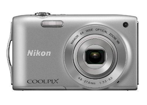 Nikon Coolpix S3300 Digital Camera - Silver (16MP, 6x Optical Zoom) 2.7 inch LCD