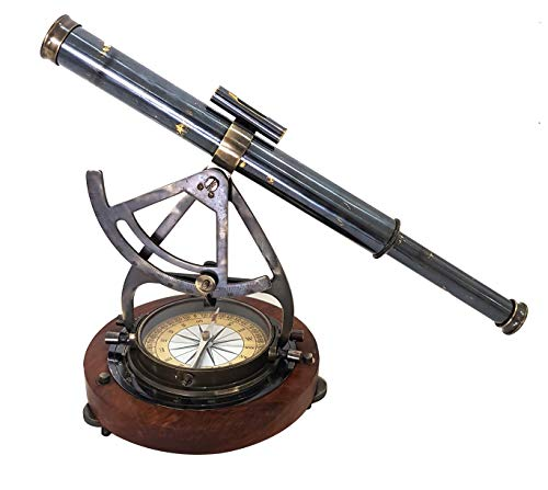 collectiblesBuy Antique Nautical Brass Alidade Compass Theodolite Telescope 14