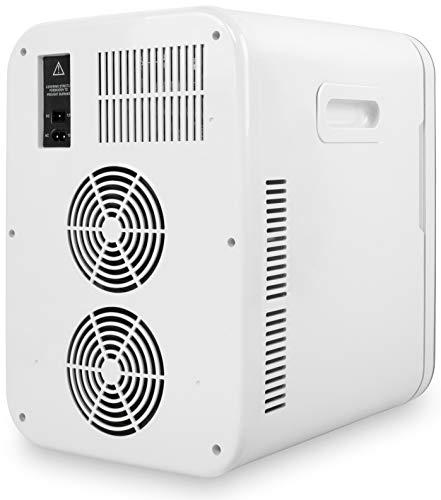 Cooluli Concord White 20 Liter Compact Cooler Warmer Mini Fridge for Bedroom, Office, Car, Dorm - Portable Makeup Skincare Fridge with Digital Temperature Control
