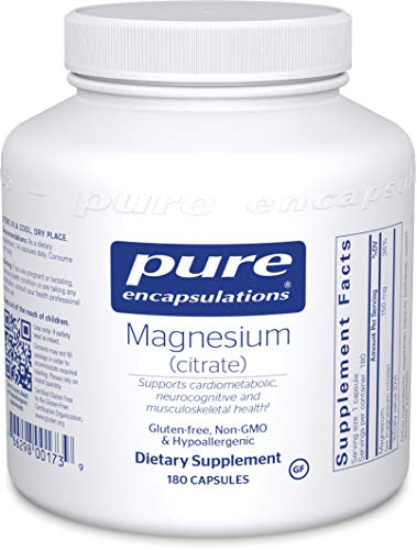 Pure Encapsulations - Magnesium (Citrate) - Hypoallergenic Supplement Supports Nutrient Utilization and Physiological Functions - 180 Capsules