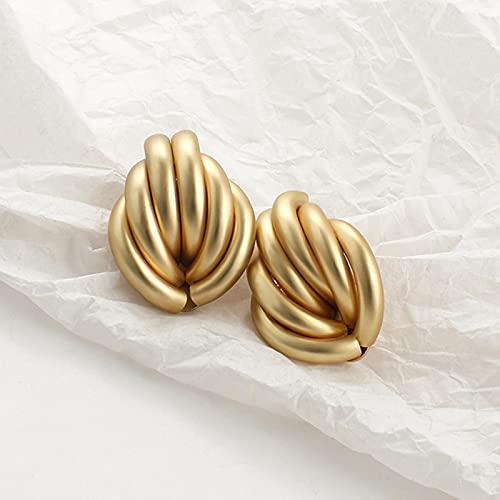 CXWK Pendientes de Color Dorado para Mujer, múltiples Pendientes geométricos Redondos de Moda, Pendientes llamativos, joyería de Fiesta de Moda, Regalo