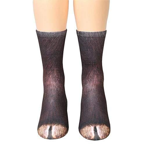 whmyz Black Friday Fashion Unisex Erwachsene Kinder Füße 3D-Bedruckte atmungsaktive Mittelrohrsocken Socken-5