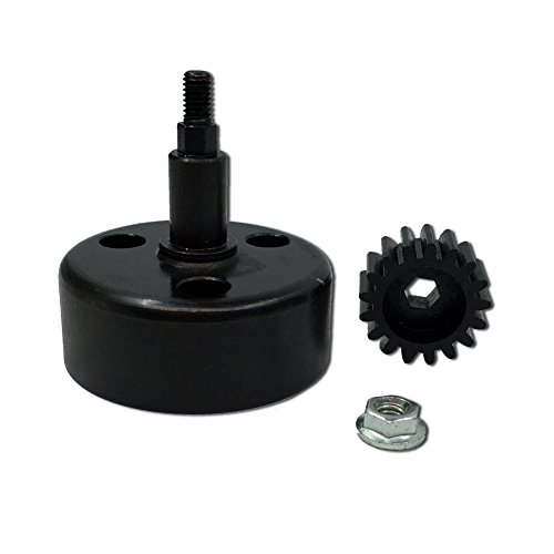 FLMLF Alloy Clutch Bell with 17T Hardened Steel Pinion Gear Upgrade Set for 1/5 RC Hpi Baja 5B 5T 5SC TOP Speed RC World