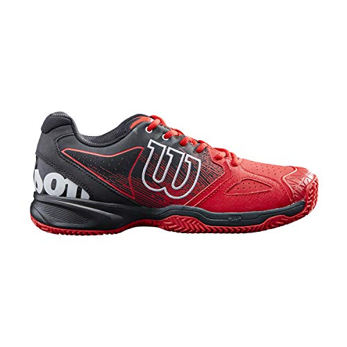 Wilson Chaussures de Tennis pour homme, KAOS DEVO BANDEJA, Rouge Blanc Noir, 42, pour terrains Indoor, tous types de joueurs, WRS327670E080