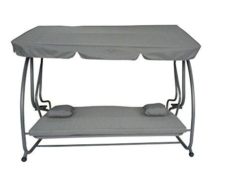 Pure Home & Garden 4-Sitzer XXL Hollywoodschaukel mit Liegefunktion Askim Anthrazit, einfach klappbar, 232 cm - 2