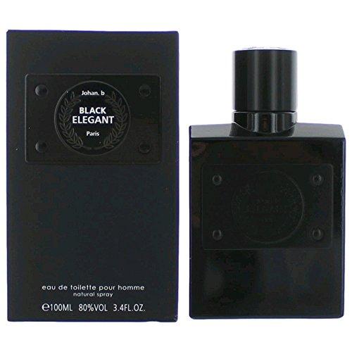 ELEGANT BLACK POUR HOMME BY JOHAN B COLOGNE FOR MEN 3.4 OZ / 100 ML EAU DE TOILETTE SPRAY